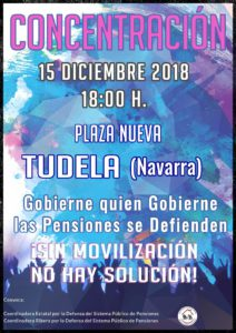 Cartel de la concentración en defensa de las pensiones